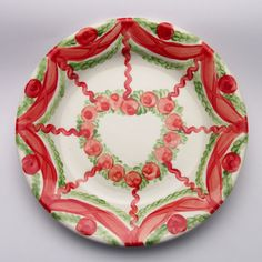 ursulane Serving Bowls, Tableware, Red, Green, Tablewares, Dinnerware, Dishes, Place Settings, Mixing Bowls