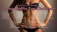 7 Day Muffin Top Weekly Workout Challenge