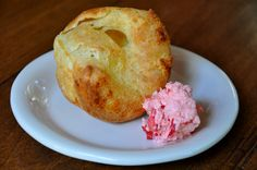 Popovers with Whipped Strawberry Butter