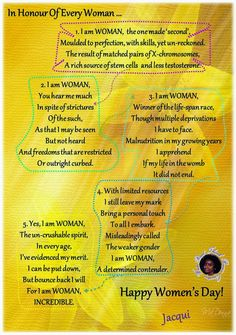 Musings Of An Active Mind -: Read - Think - Reason - Question - Write: READ IT HERE OR CLICK ON THE LINK :    I AM WOMAN!...