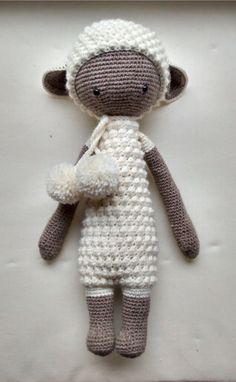 LUPO the lamb made by Lena-Marie H. / crochet pattern by lalylala - the only weakness is the neck. Maybe it's the overly large head or have not good stuffed enough the transition, in any case he is shaking bad back and forth. Crochet Dolls, Crochet Baby, Knit Crochet, Crochet Projects, Craft Projects, Ravelry, Loom Knitting, Softies, Sheep