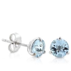 Aquamarine Earrings 14K :: Ben Bridge Jeweler ::  My ears are so sensitive to metals that my earring collection never gets worn!the 14k gold helps! I'd love to have these beautiful aquamarine earrings!