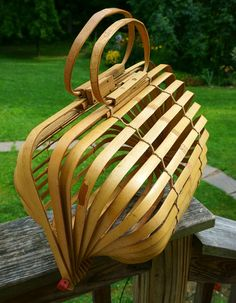Vintage 1940s Japanese Bent Bamboo Folding Cage by TheDecoHotel