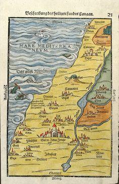 Bunting, H. - Beschreibung des heiligen Landes Canaan Published : Magdeburg, 1581. Size : 10.4 x 6.8 inches. / 26.5 x 17.3 cm.