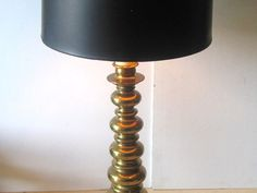 Hollywood Regency Gold Ball Stacking Lamp Tall by TheGildedTassel