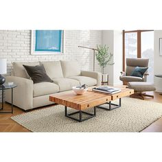 Metro Sofa with Briggs Cocktail Table - Modern Living Room Furniture - Room & Board