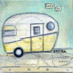 Let's Go vintage trailer