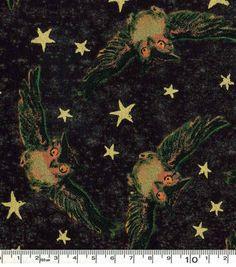 Halloween Cotton Fabric-Owls And Stars