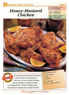 Easy Everyday Cooking Cards Honey Mustard Chicken