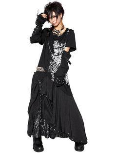 2 Way Black Rock Long Skirt