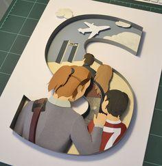 Paper Craft – Vier Buchstaben
