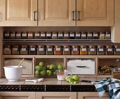Under The Cabinet Spice Storage shelves DIY