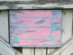 Boho Arrow sign wood wall plaque arrows hand by Moodsigns18