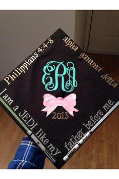 "4"" Graduation Hat Decal on Etsy, $4.00"