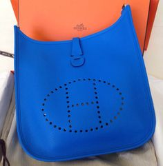 c35bf0ee1cb Hermés Evelyne in Blue Hydra. Tina R · Bags I love