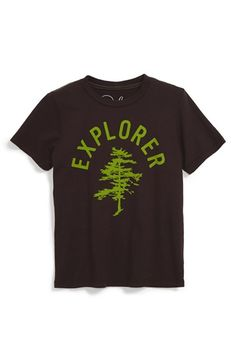 Free shipping and returns on Peek 'Explorer' Graphic T-Shirt (Toddler Boys, Little Boys & Big Boys) at Nordstrom.com. Your little adventurer can proclaim his love for the outdoors in a cool cotton T-shirt featuring neon-colored graphics.