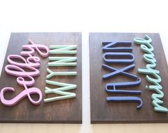 Custom Name Wood Sign | First & Middle Name | Wood Sign | Wood Cutout | Name Sign | Nusery Sign | Nusery Decor | Baby Gift