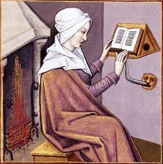 Démophilè lisant - BnF, Manuscrits, Français 599,