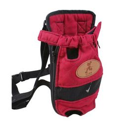 Outdoor Travel Front Backpack Carrier Bag For Pets RED (Suitable for 0-3kg)