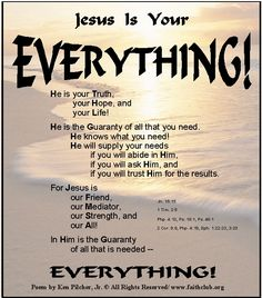 JESUS Is Your EVERYTHING!