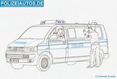 Ausmalbilder Polizei Autos 01