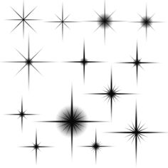 "Several brushes for creating reflections or highlight ""glints"" to add sparkle to your designs."