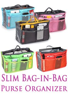 This slim bag-in-bag purse organizer keeps all of your items in place when you switch the organizer from bag to bag - Keeps all your essentials safe and easily accessible to you - Grab yours before they're all gone!