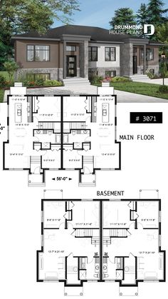 72 Best Builder House Plans Multi Family Home Plans Images In 2019