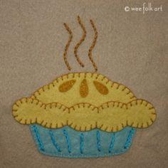 Deep Dish Apple Pie аппликация Pattern