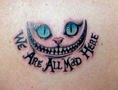Alice and wonderland tattoo/ cheshire cat