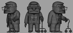 Character Modeling, Character Creation, 3d Character, Animation Character, 3d Modeling, Carl Fredricksen, Zbrush Models, 3d Drawings, Reference Images
