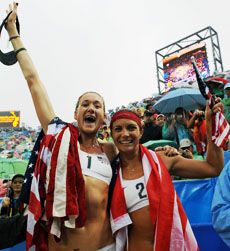 USA's Kerri Walsh and Misty May-Treanor win gold at 2008 Beijing Olympic Games
