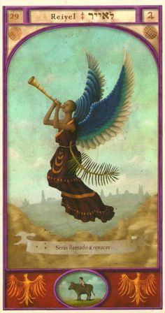 (29) REIYEL (Kabbalistic angel) protects those born 13 - 17 August, to get rid of enemies and restore faith. (ángel Cabalístico) protege aquellos nacidos 13 - 17 agosto, para librarse de los enemigos y recuperar la fe.