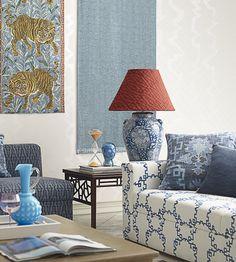 Peony Trellis Fabric by Jim Thompson No.9 | Jane Clayton