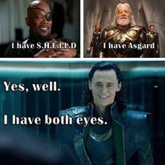Funny Thor and Loki | funny-Nick-Fury-Odin-Loki-eyes