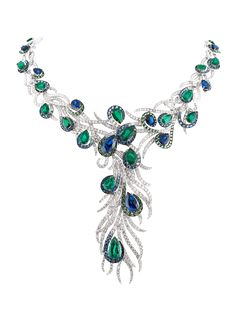 Gilan, Elegant Feathers necklace