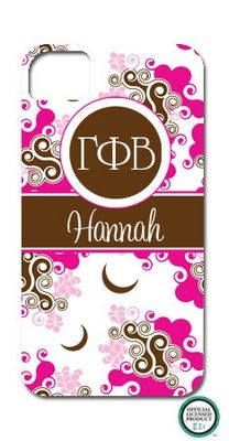 Gamma Phi Beta Swirl Cell Phone Case cool-things-i-want