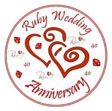 ruby wedding cards - Google Search
