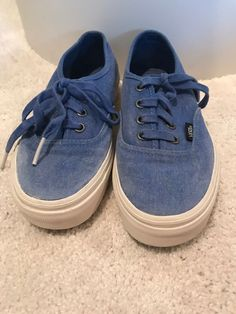 9130cfb0fa11 blue vans mens 4 womens 5.5  fashion  clothing  shoes  accessories   unisexclothingshoesaccs