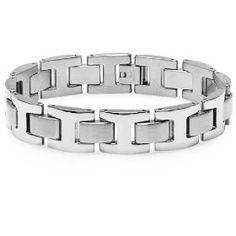 Men's Heavy Solid Stainless Steel Chain Link Bracelet 8 1/2 inches Oxford Ivy.