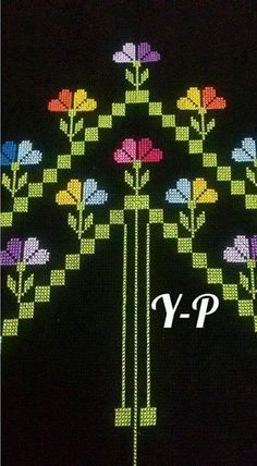This Pin was discovered by şen Cross Stitch Borders, Cross Stitch Flowers, Cross Stitch Designs, Cross Stitching, Cross Stitch Embroidery, Cross Stitch Patterns, Easy Crochet Patterns, Baby Knitting Patterns, Cross Stitch Tattoo