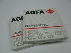 Vintage Agfa Reel to Reel Audio Tape Master Band 13cm 190M 5in 625FEET Pack of 2   eBay