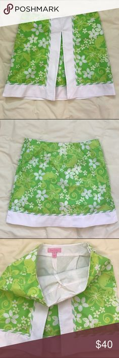 Lilly Pulitzer Skirt Skort This Lilly Pulitzer skirt/skort is in excellent used condition. Size 00, the length is 15 inches. There is a green monkey or lion in the pattern. Side zip. Lilly Pulitzer Skirts Mini