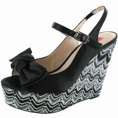 Cool Betsey Johnson Women 'Wenndy' Platform Wedge Shoe