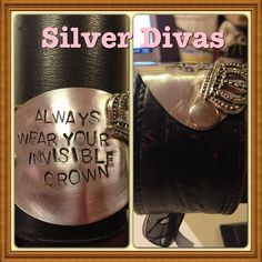 Always wear your invisible Crown vintage cuff spoon bracelet with recycled western leather belt. $35 plus tax and shipping if needed   Find us on Facebook at www.facebook.com/silverdivas