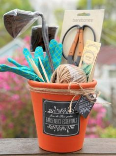 To welcome a new family to the block, why not give them a thoughtful pot filled with gardening goodies? Including some of your favourite tools like hand tools, seeds collected from your garden, and a catalog to local garden businesses would be a nice touch.