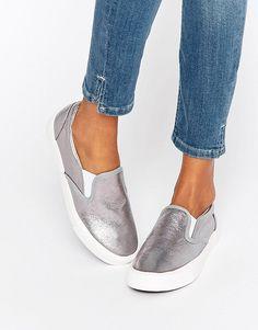 New Look Metallic Slip On Shoe