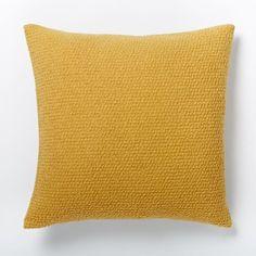 Cozy Boucle Pillow Cover - Horseradish | west elm