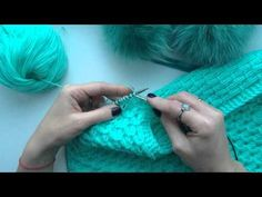 How to knit. Knit Or Crochet, Baby Blanket Crochet, Crochet Baby, Knitting Videos, Crochet Videos, Knitting Tutorials, Lace Knitting Patterns, Smocks, Crochet Designs