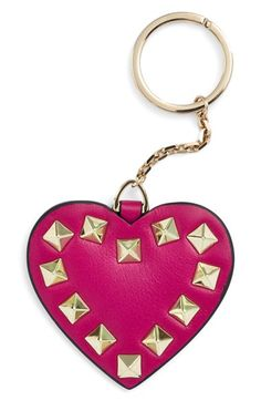 Valentino 'Rockstud Heart' Key Chain available at #Nordstrom